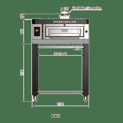 Подовая  печь для пиццы Р401
