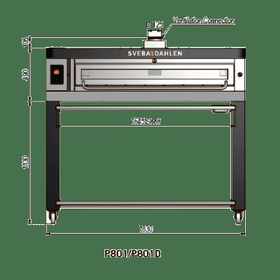 Подовая  печь для пиццы P801/P801D
