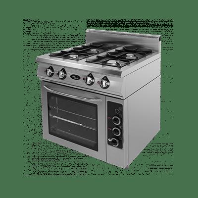 Плита газовая 4-х горелочная с электрической духовкой Ф4ПДГ/800