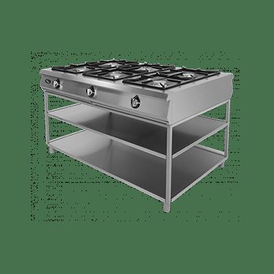 Плита газовая 6-ти горелочная Ф6П2Г/1000