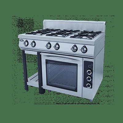 Плита газовая 6-ти горелочная Ф6ПДГ/800 с электрической духовкой