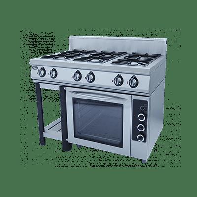 Плита газовая 6-ти горелочная Ф6ПДГ/800 с газовой духовкой